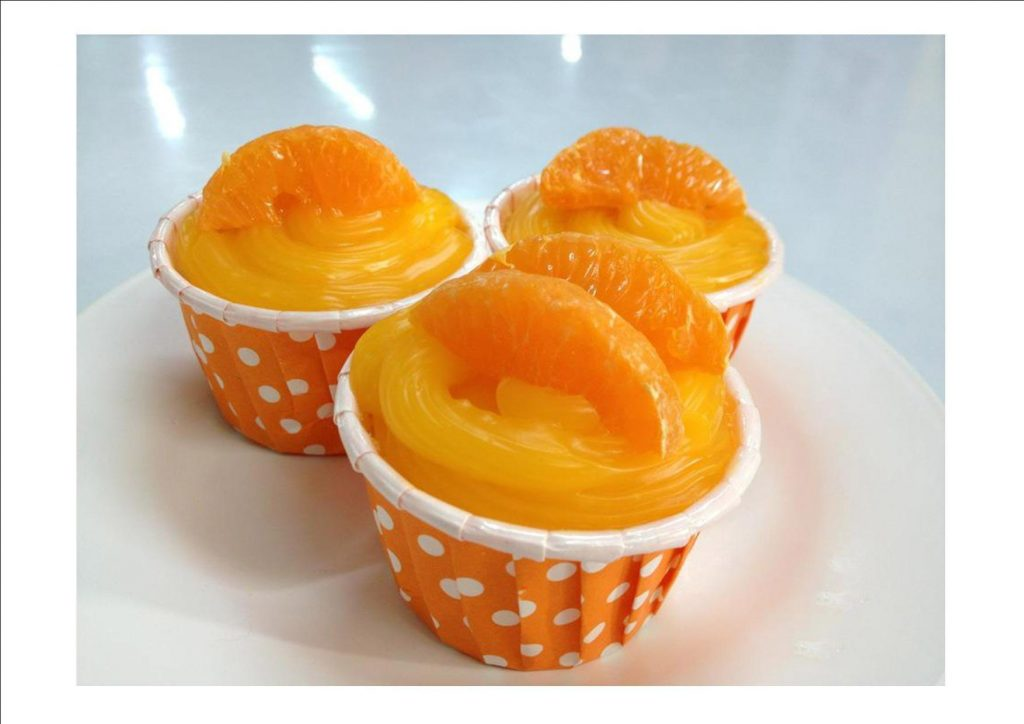 Highlight orange cupcake